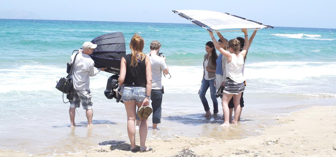 Setmanagement für Kunden von Wunschgesichter am Strand von Kreta